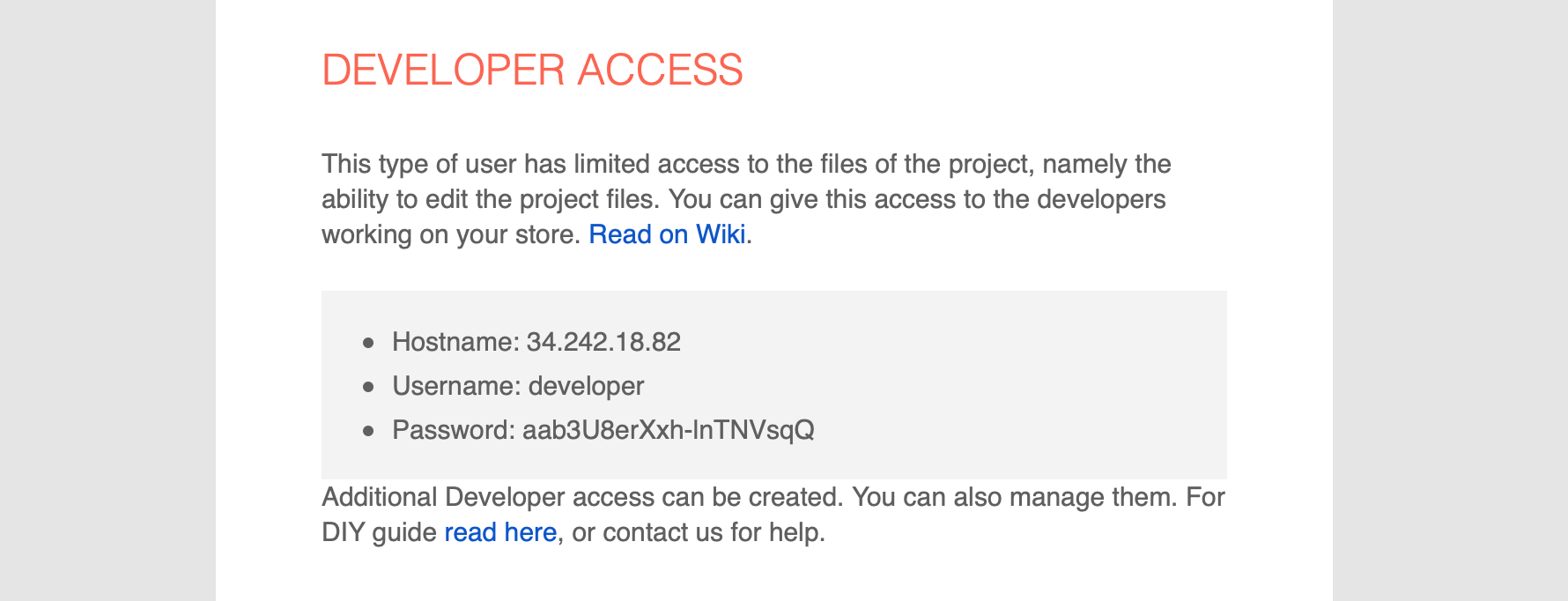 How to: Development: Manage files (GUI) — Documentation for