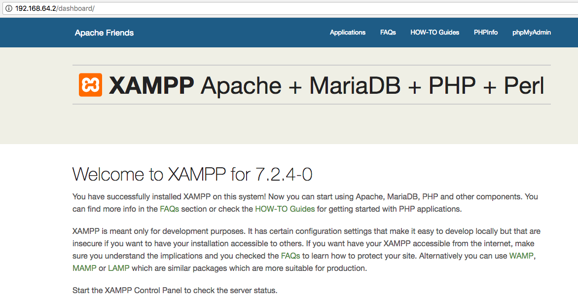 How to: Create a local copy with XAMPP in Mac OS