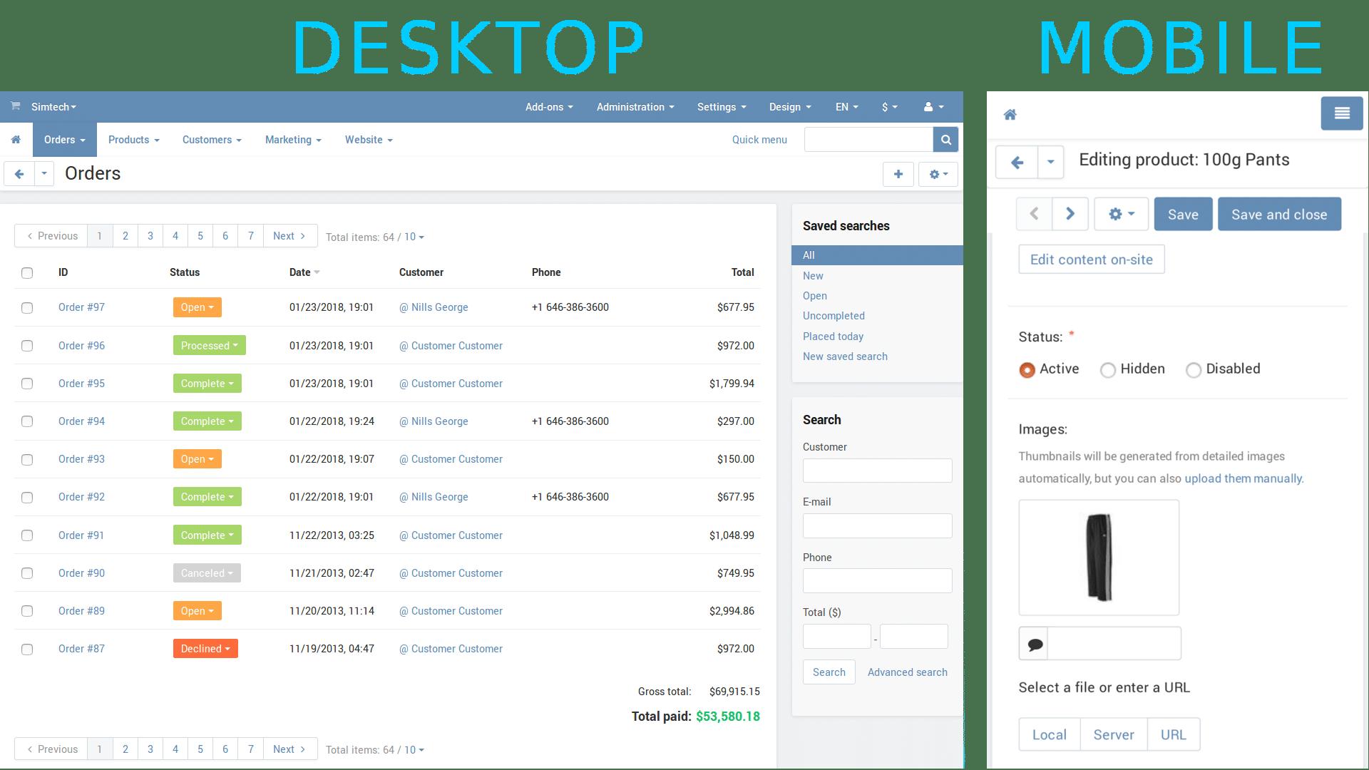 mobile marketplace platform