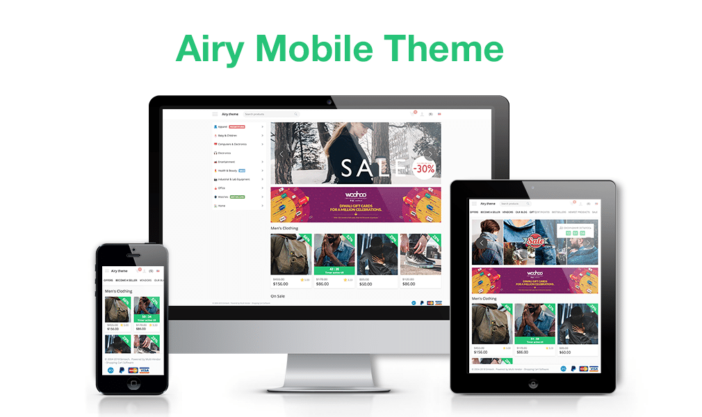 Airy Mobile Theme for CS-Cart
