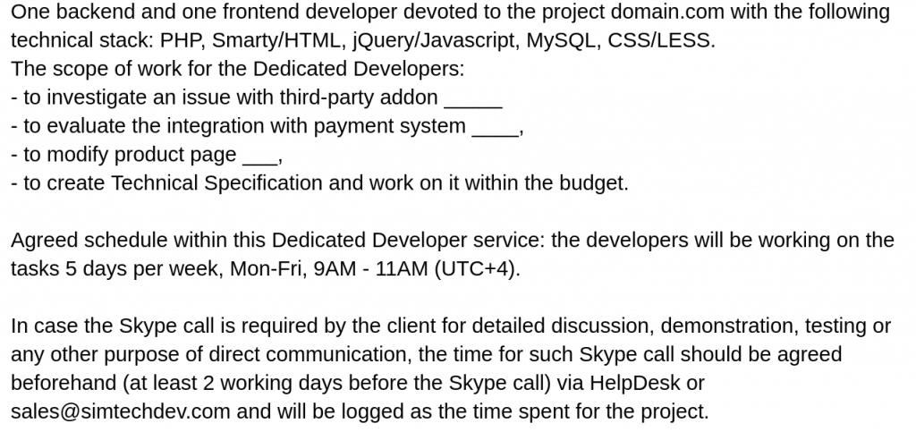 Dedicated Developer service