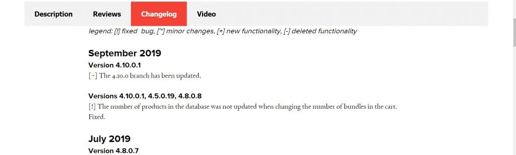 Add-On Changelog