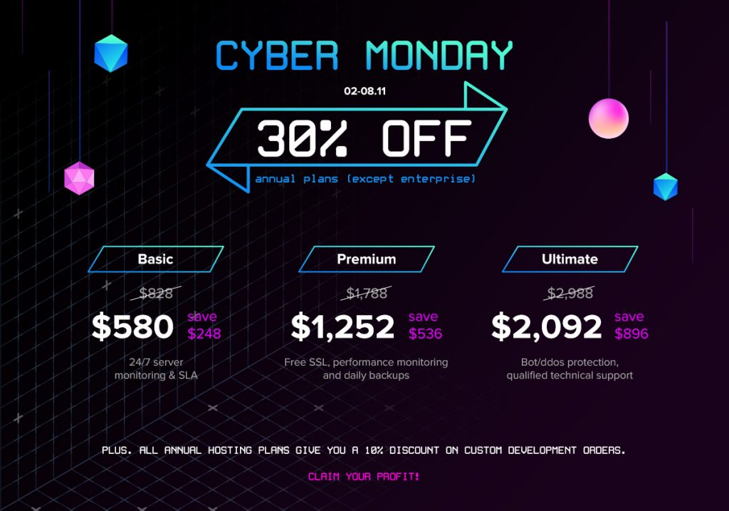 Move Your Business To Cloud With 30% Discount. Cyber Monday Deals!