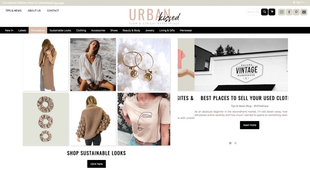urbankissed.co.uk, a CS-Cart built eCommerce website