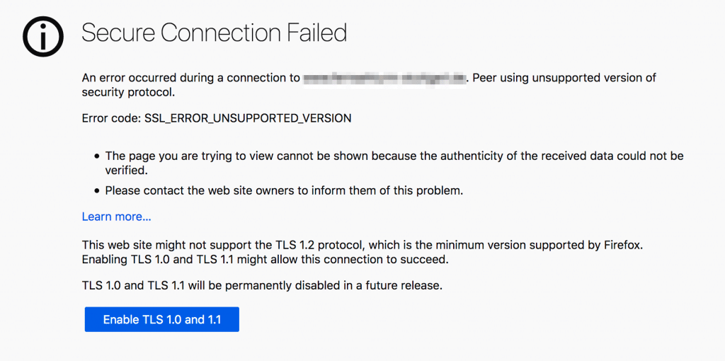 Deprecating TLS 1.1
