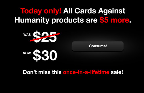 Cards Againts Humanity Black Friday
