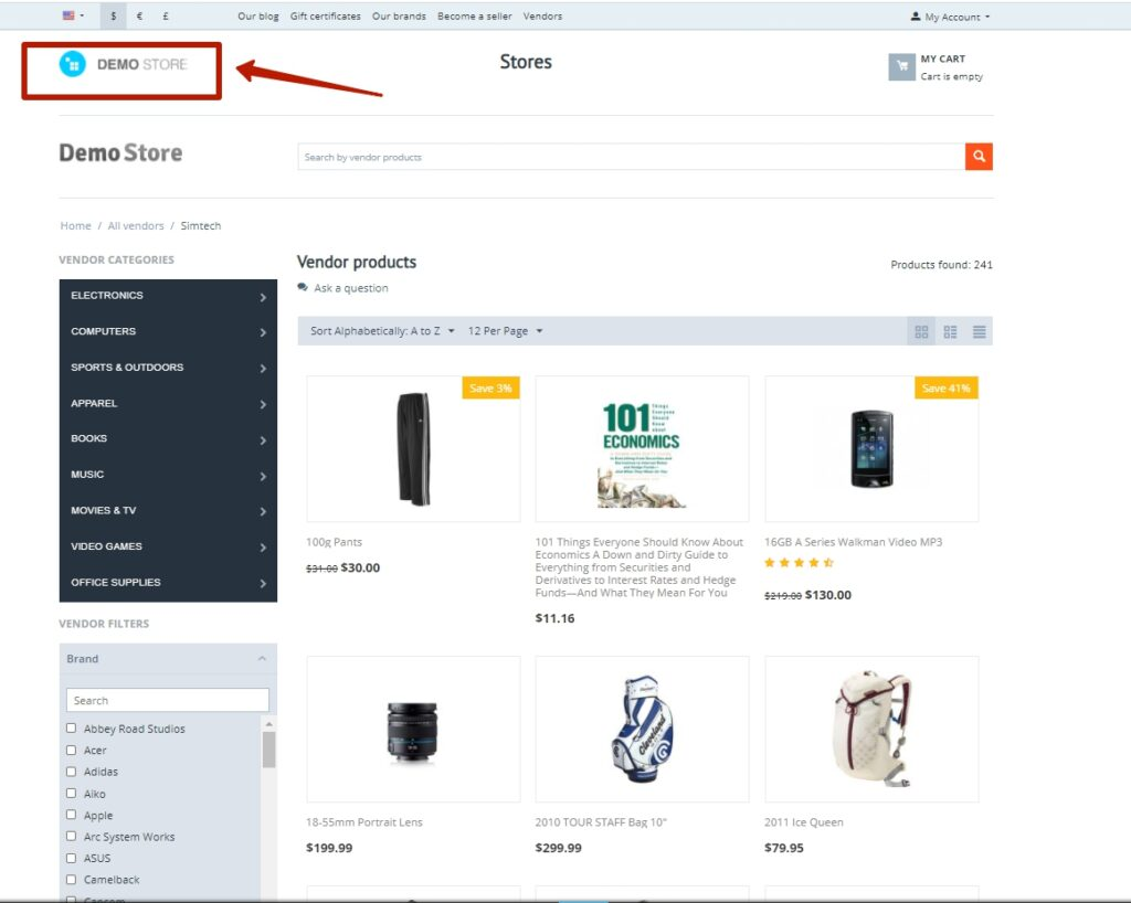 Vendor Pages as Stores