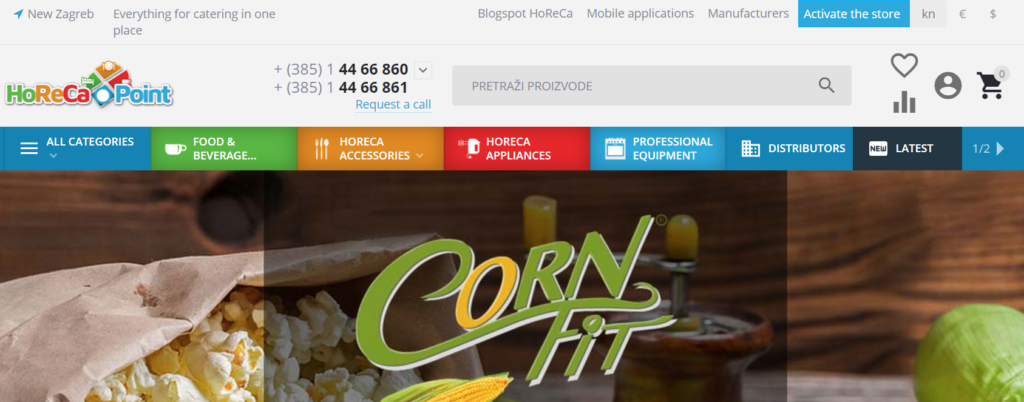 Our client: horeca-point.com, a marketplace in the hospitality industry from Croatia