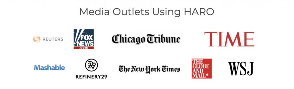 Media Outlets Residing on HARO
