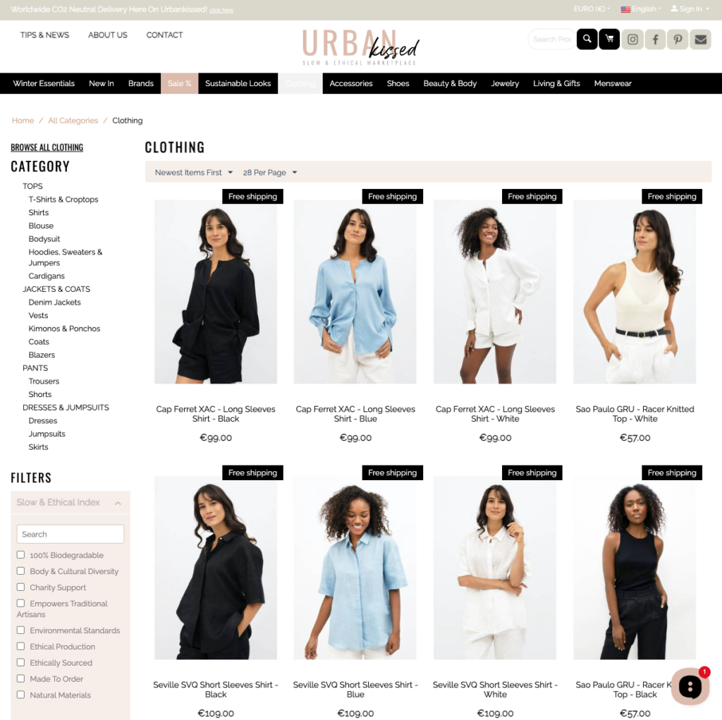 Urbankissed, an online destination for sustainable and ethical fashion