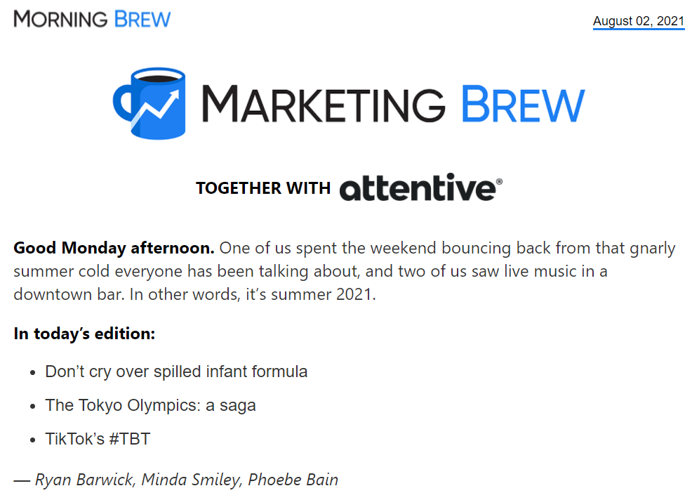 Morning Brew brand archetype