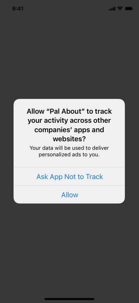 Starting from May 2021, when a user opens an app on iOS 14, a prompt will ask: 'Would you like this application to track you as a user? Without the user consent, performance advertisers won't be able to track and analyze data.