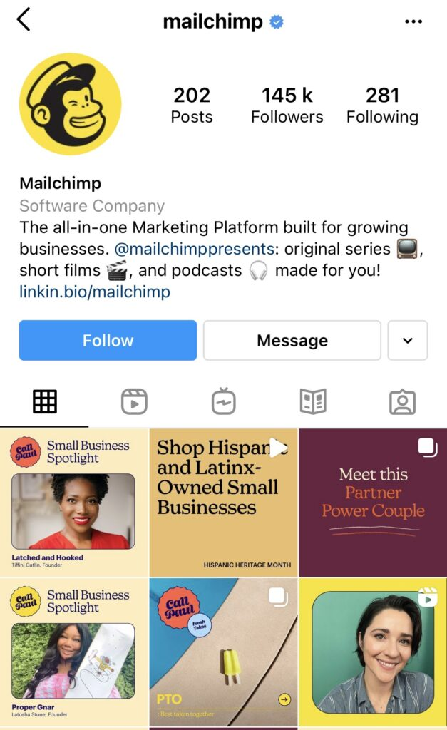 And Mailchimp creates their feed in corporate colors.