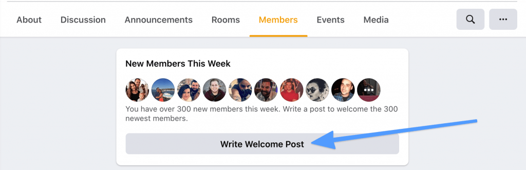 Write Welcome Post