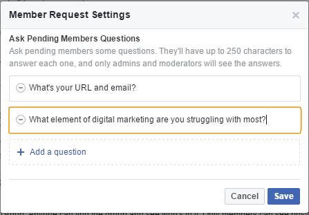 Member Request Settings