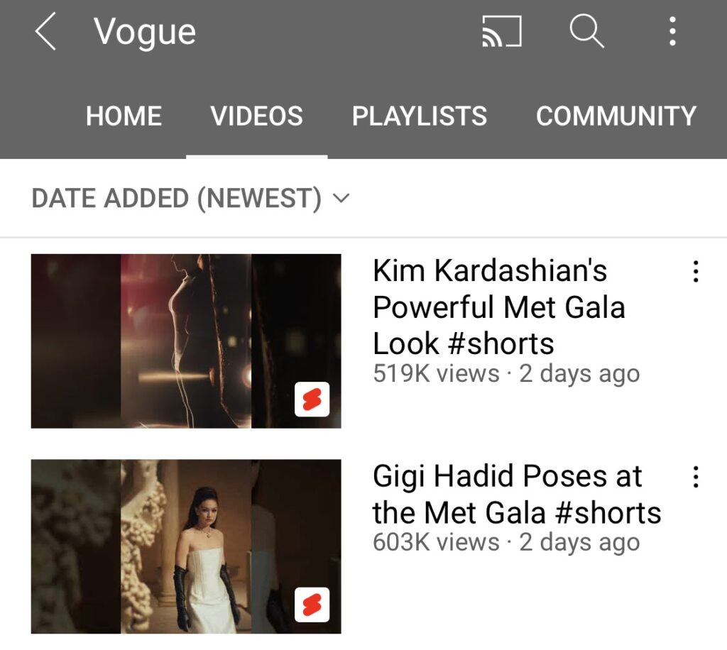 Check out how a Vogue account is managed. They post vlogs and tutorials. With its content, the company creates the feeling of peeping through a keyhole. Vogue has quality production, and the videos are getting millions of views.